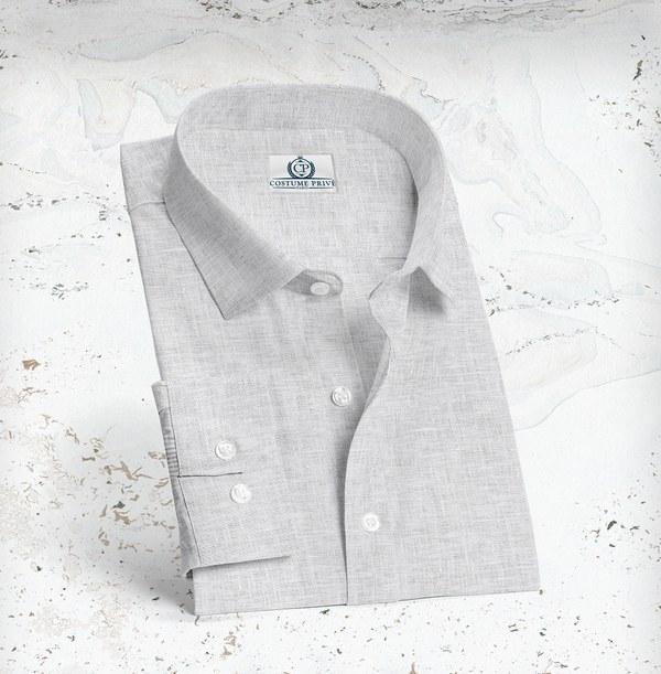 chemise lin blanc été sur-mesure
