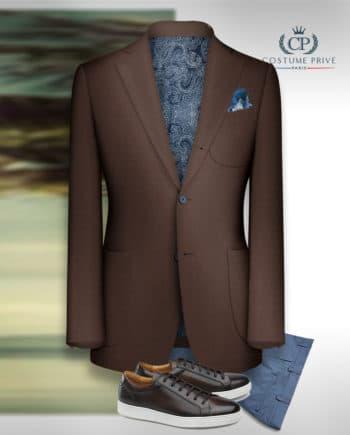 blazer marron sport coton