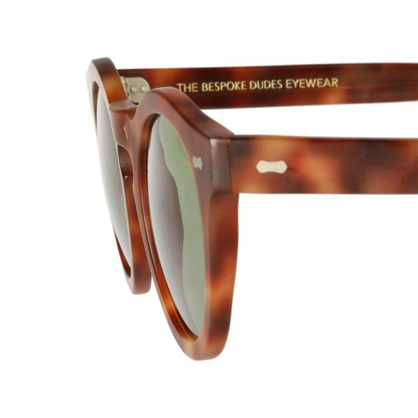 Lunettes de soleil Blazer ambre bespoke dudes eyewear