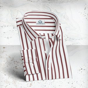 chemise rayures rouge blanc sur mesure costume privé paris