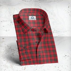 chemise carreaux rouge sur mesure paris FW20