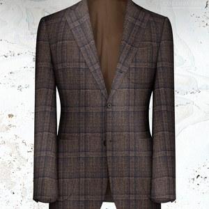 veste marron carreau bleu laine hiver 20