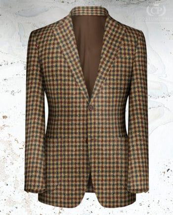 veste marron carreau rouge vert tweed hiver 20