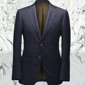 costume bleu prince de galles marron sur mesure paris tailleur