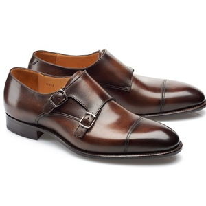 chaussures deux boucles marron patiné