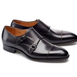 chaussures deux boucles noir patiné