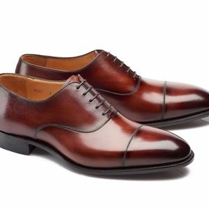 chaussures richelieu bordeaux bout rapporté
