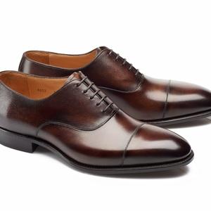 chaussures richelieu marron foncé bout rapporté
