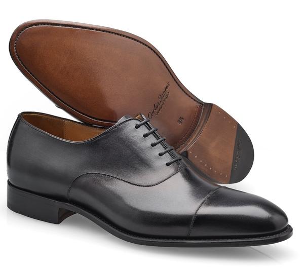 chaussures richelieu noir bout rapporté