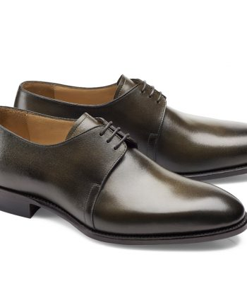 chaussures vert bronze patiné derby