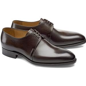 chaussures marron foncé patiné derby