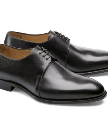 chaussures noir patiné derby