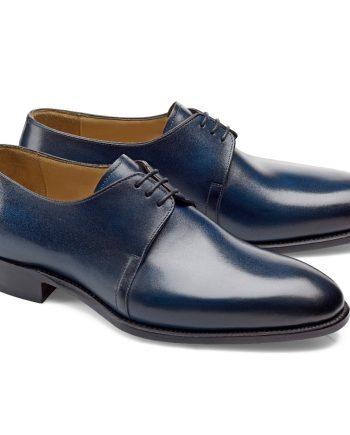 chaussures bleu patiné derby