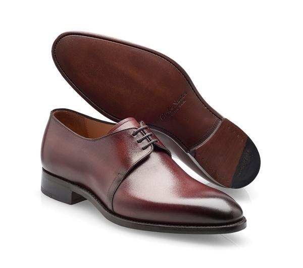 chaussures bordeaux patiné derby