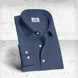 chemise denim bleu foncé été